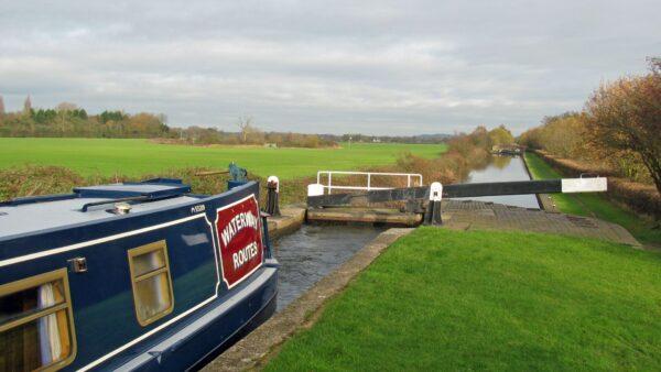 > Climbing the locks along the Birmingham & Fazeley Canal