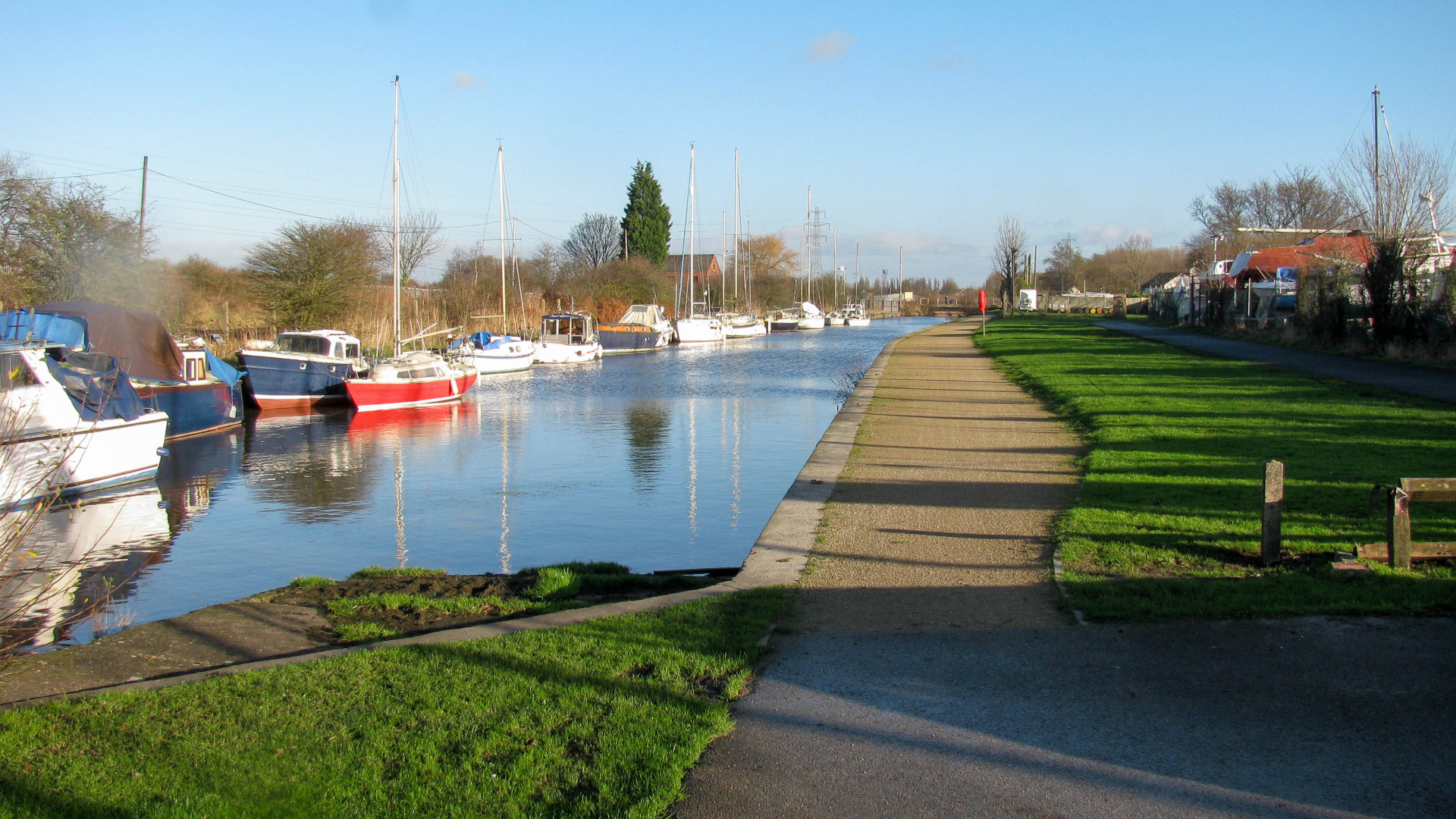 The St Helens Canal is still in use between the first two swing bridges
