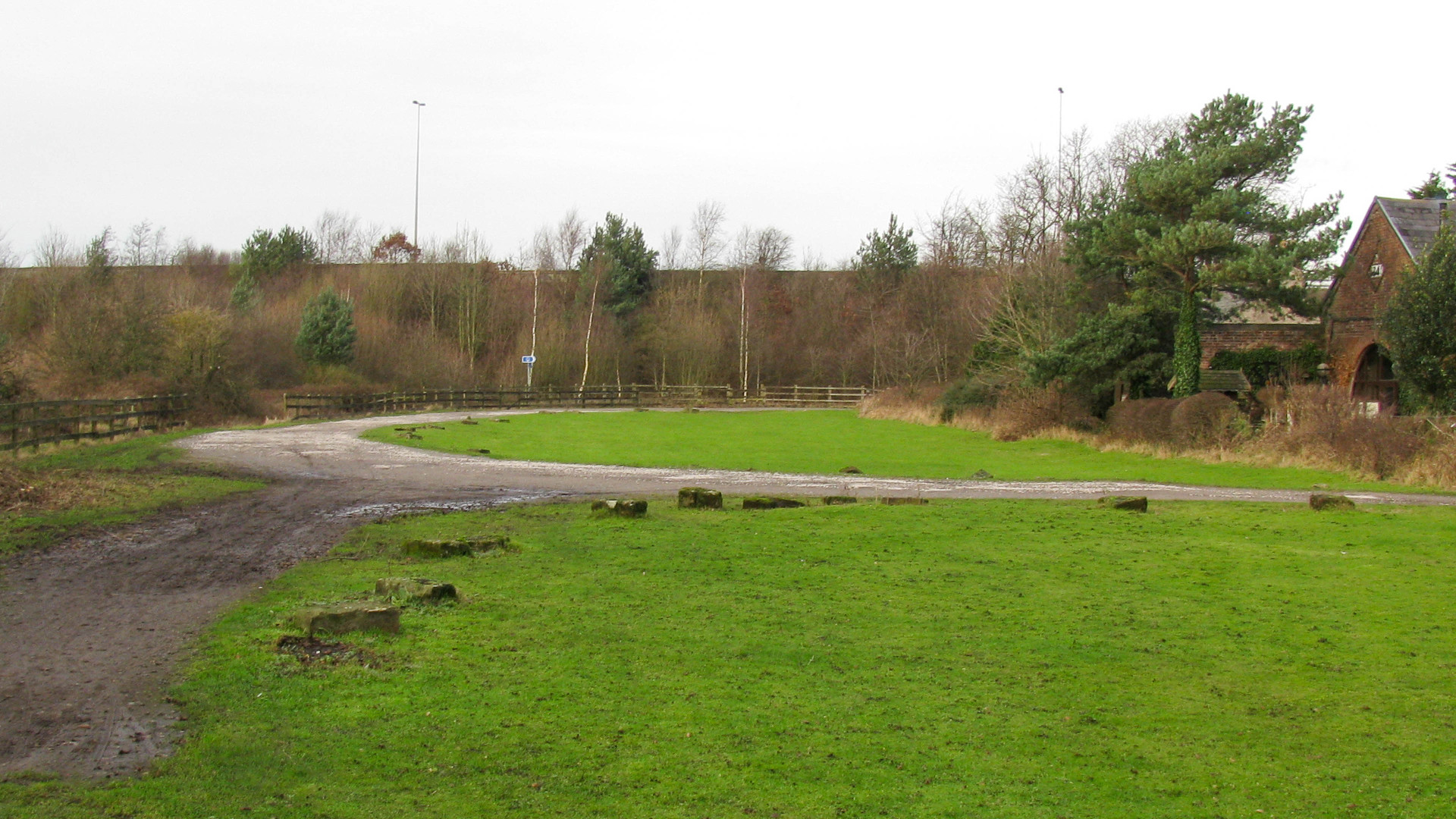 The motorway embankment presents an obstacle to restoration