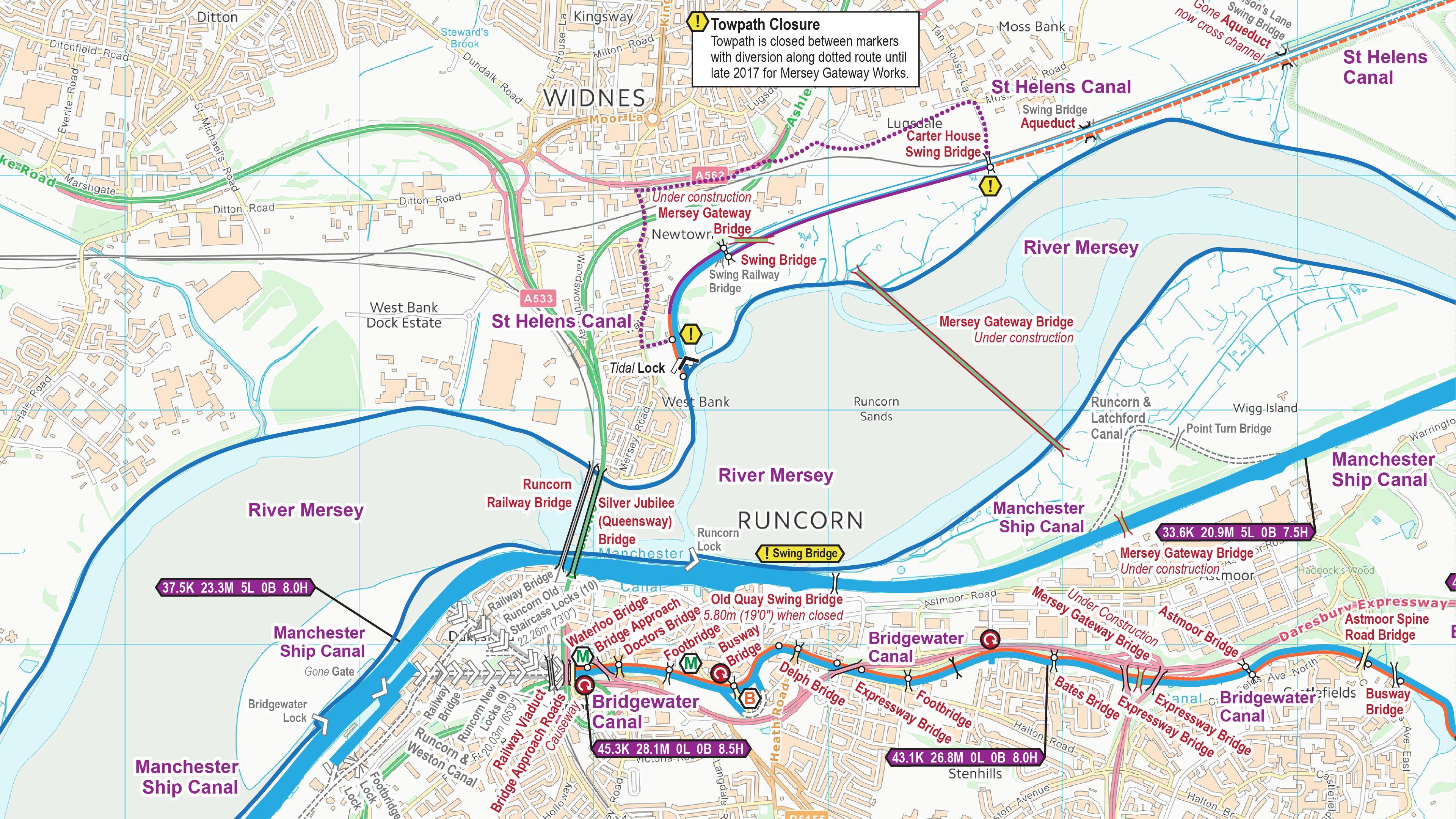 Mersey Gateway Map Mersey Gateway – Waterway Routes