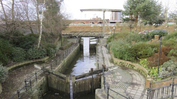 Lock 1 and lift bridge