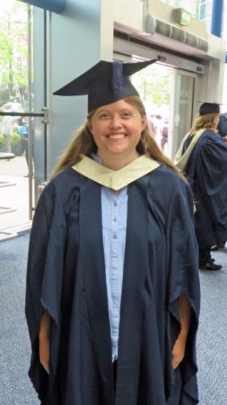 Susan robed up before the ceremony.