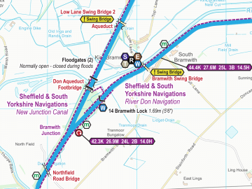 River Don Navigations Maps – Waterway Routes