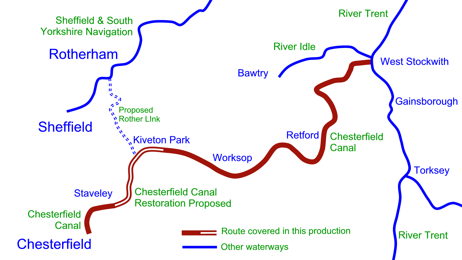 Chesterfield Canal Map Chesterfield Canal DVDs – Waterway Routes Chesterfield Canal Map