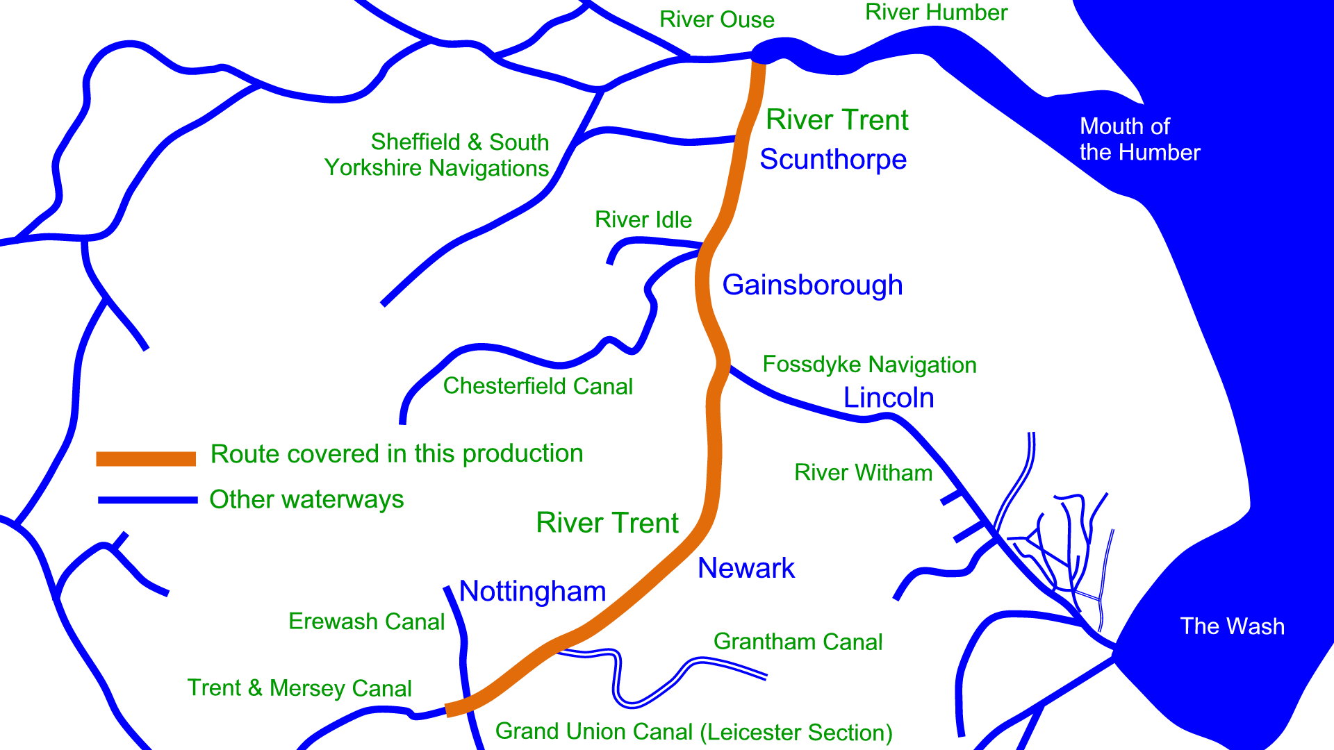 River Trent Map River Trent Maps – Waterway Routes