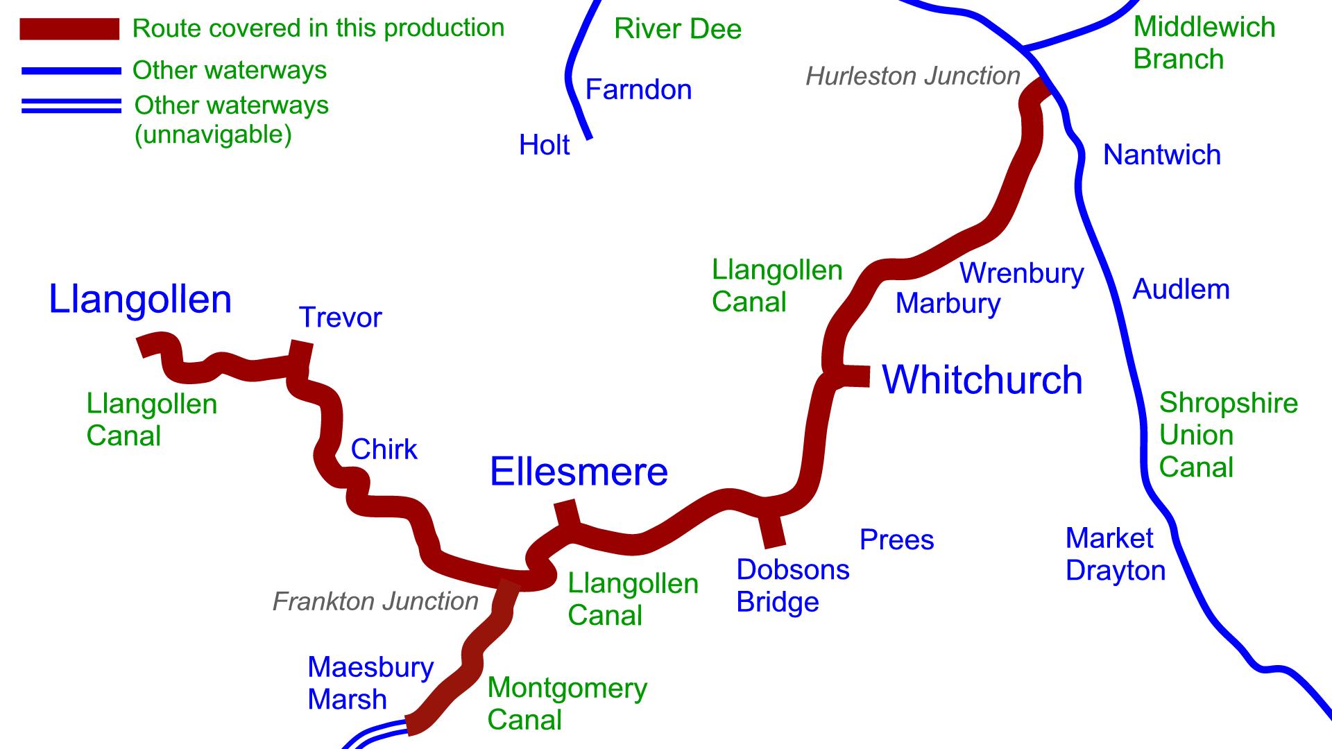 Llangollen Canal Map Llangollen Canal DVDs – Waterway Routes