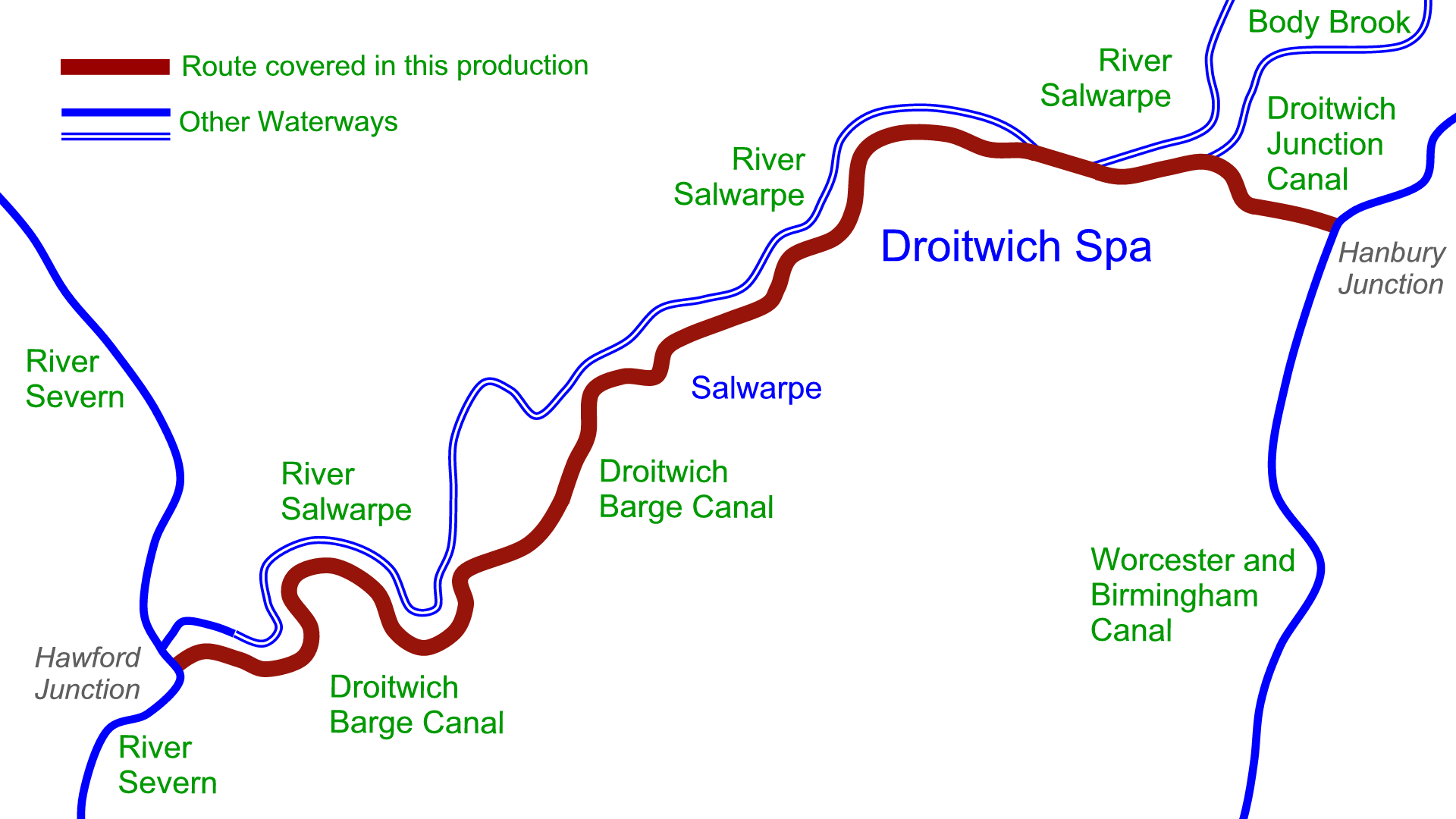 Droitwich Canals DVDs - Waterway Routes