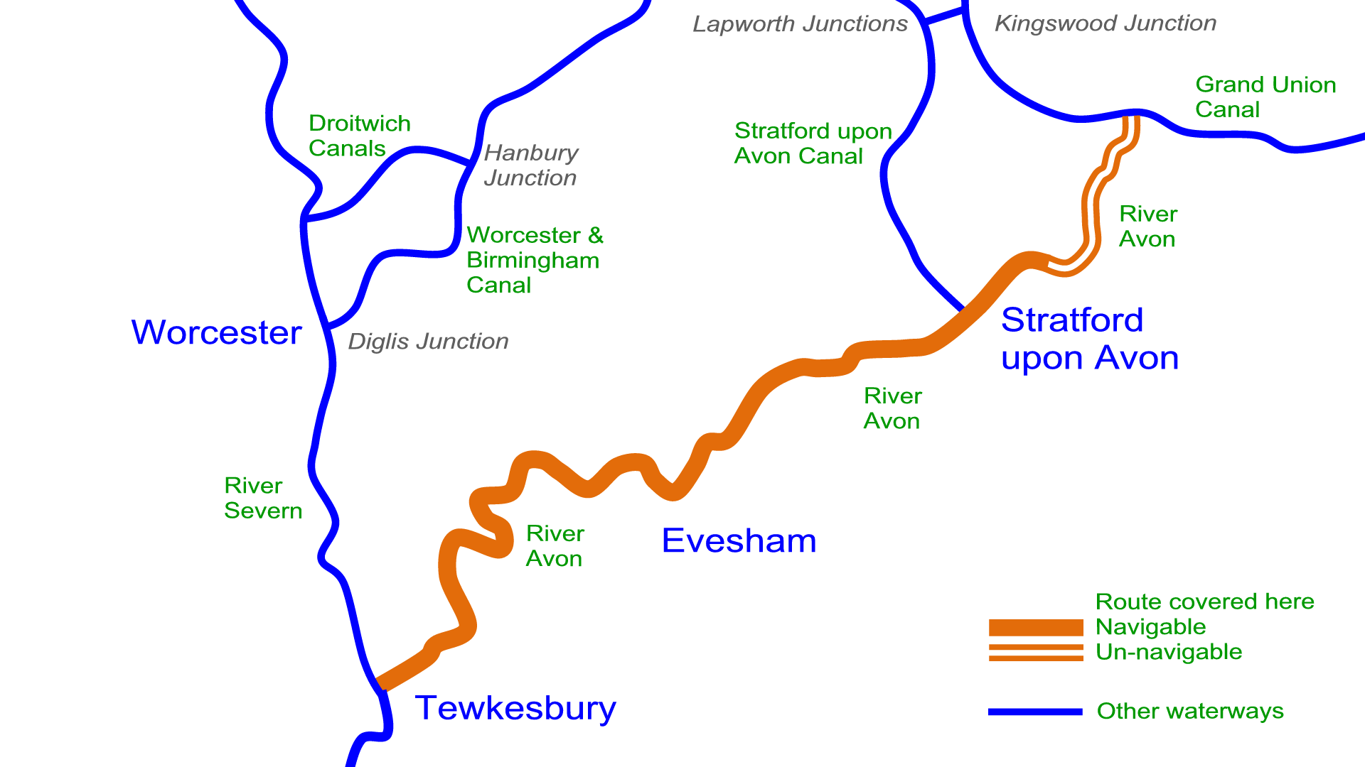 River Avon Map River Avon (Stratford) Maps – Waterway Routes
