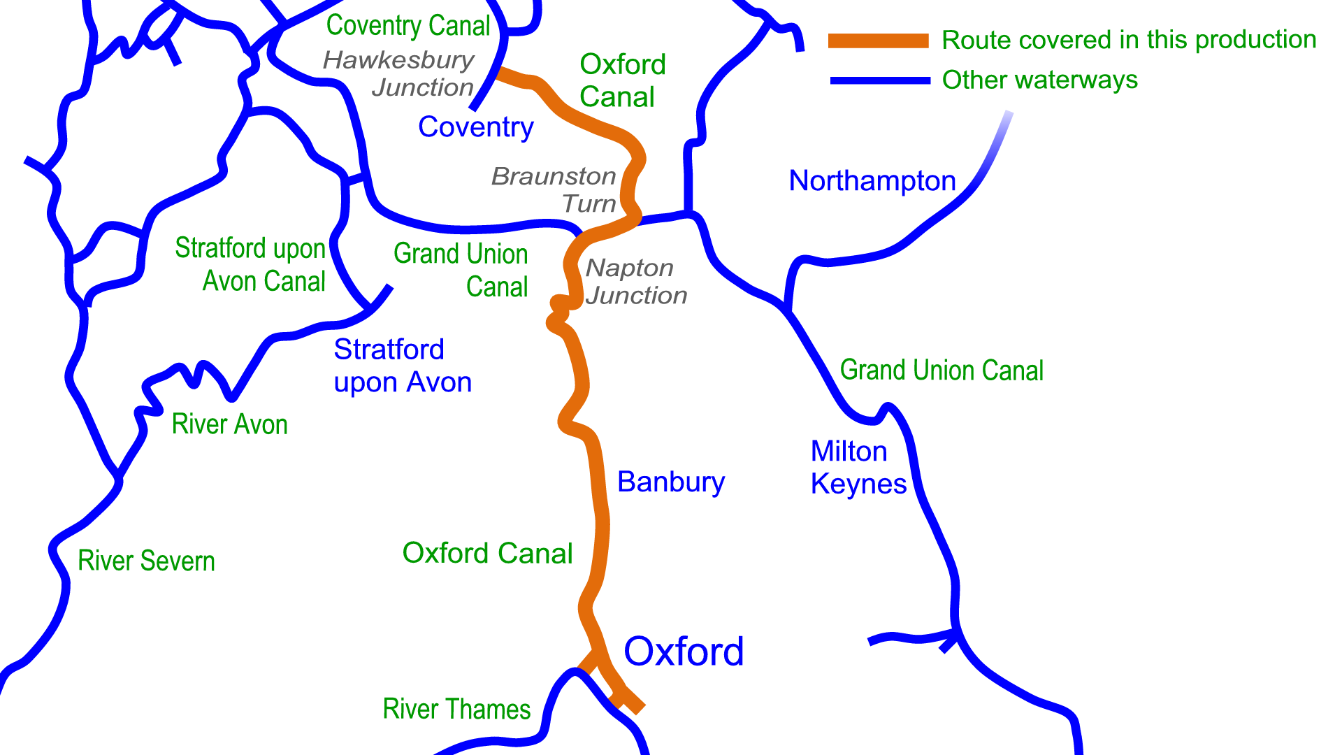 Oxford Canal Map Oxford Canal Maps – Waterway Routes