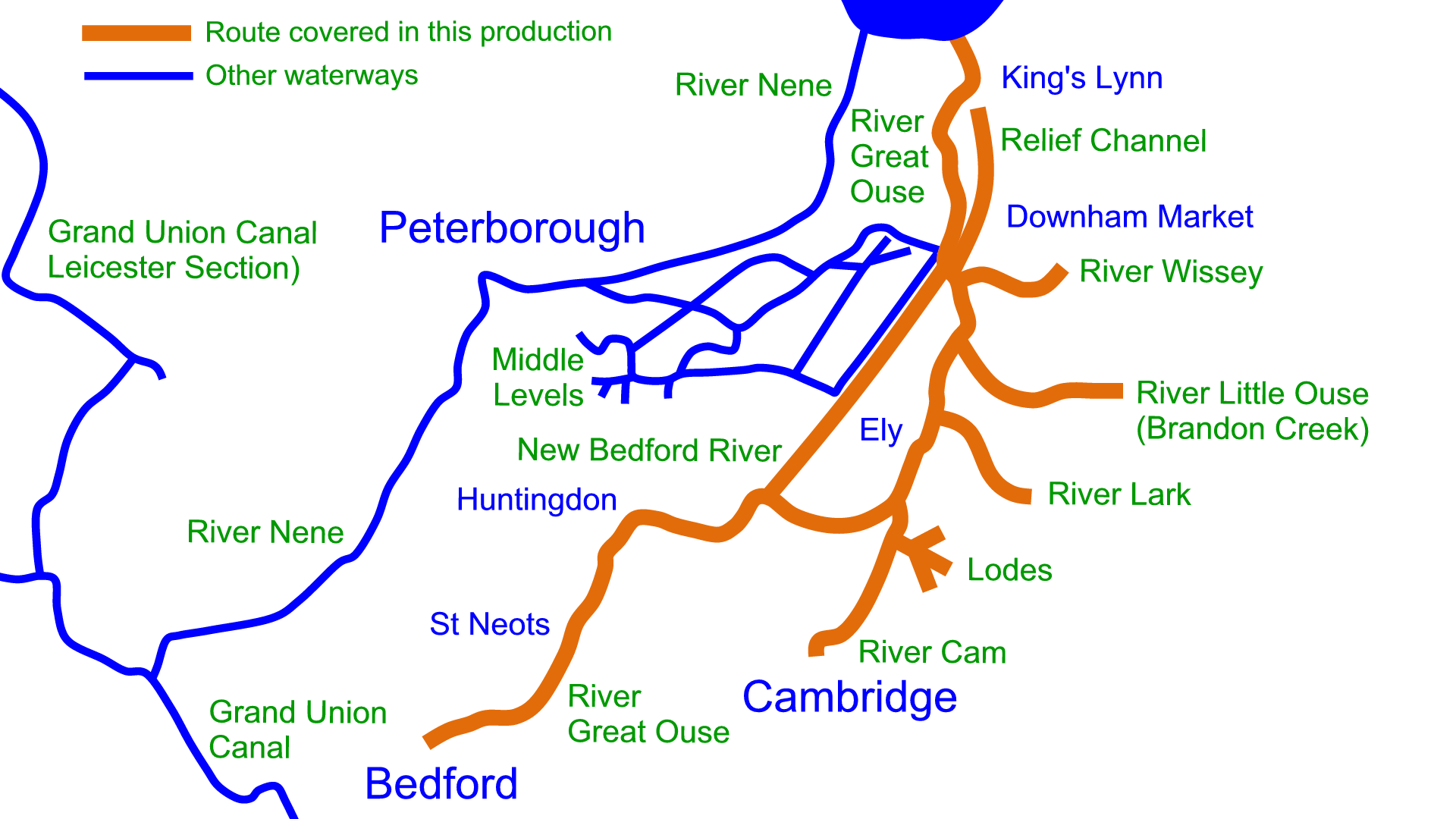 River Great Ouse and Tributaries Maps – Waterway Routes