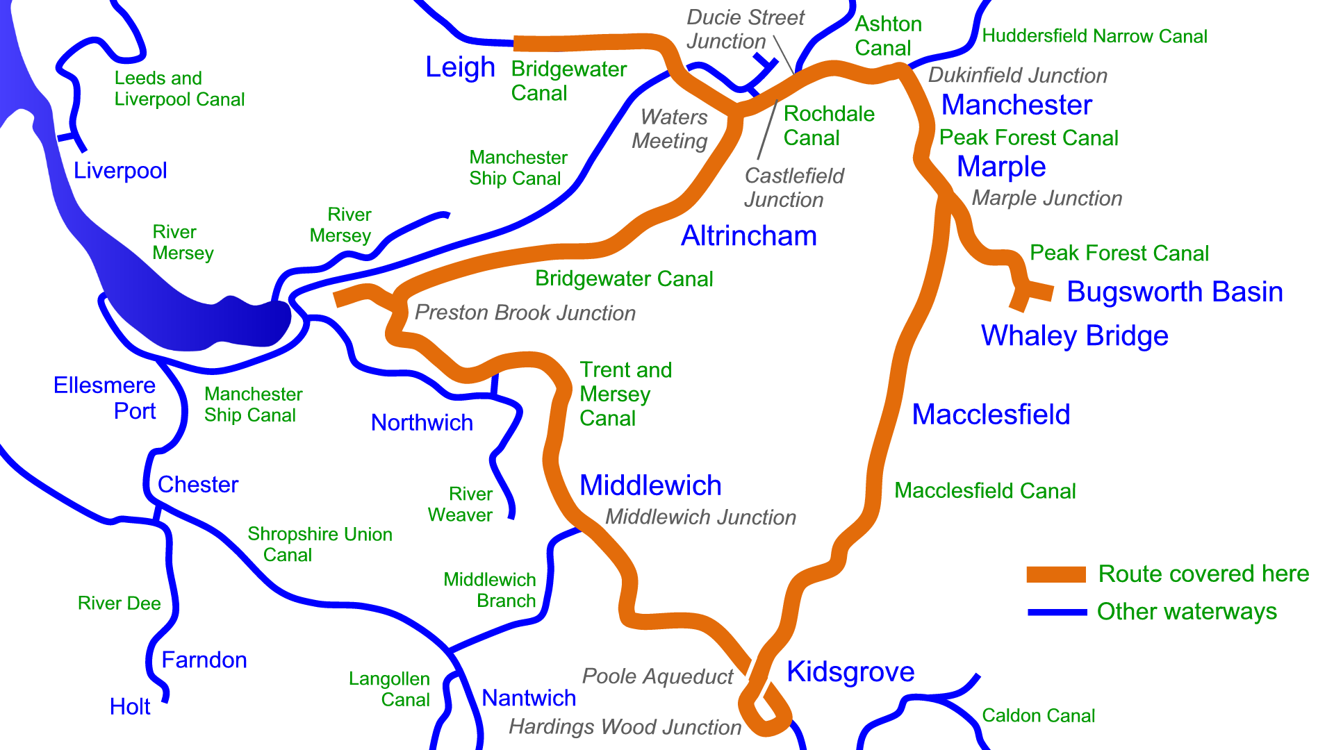 Cheshire Ring Map Cheshire Ring Maps – Waterway Routes